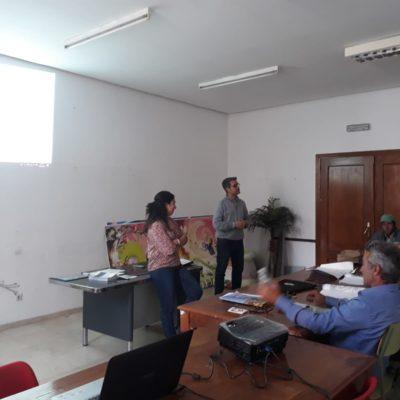 charla informativa en el curso de reciclaje de Guardas de Coto en Montoro
