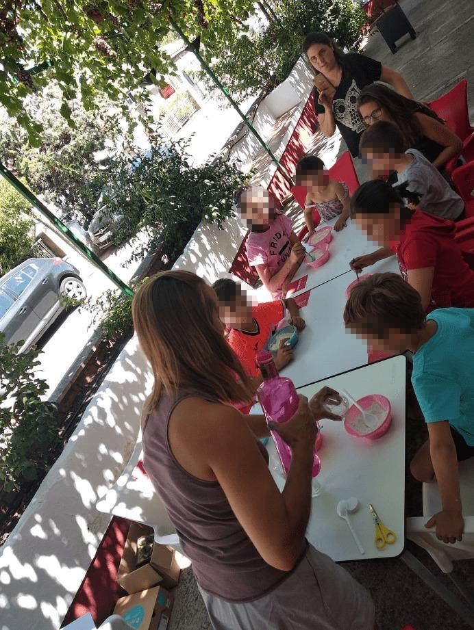 Taller con niños en El Centenillo (Jaén)